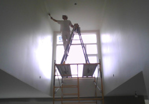 our commercial decorator in altrincham finishing a job