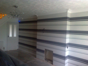 recent interior project carried out by our decorator in altrincham was for fresh wallpaper on a buy to let home
